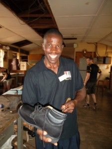 Diriibe David, one of the Ugandan technicians